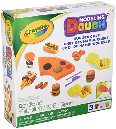 Crayola Modeling Dough Burger Chef Kit - 11 pieces