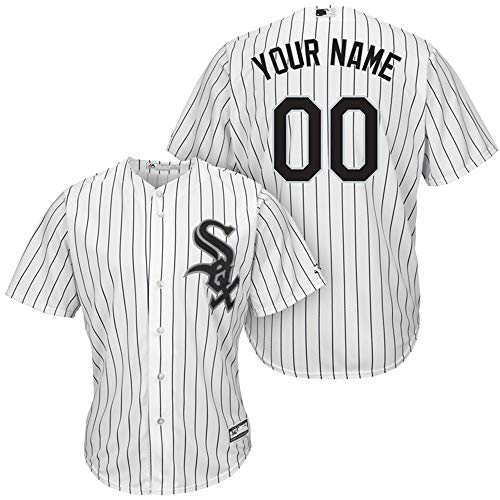 Black Cool Base Jersey - Men's Chicago_White_Sox_White/Black Home Cool Base Custom Jersey (2XL)