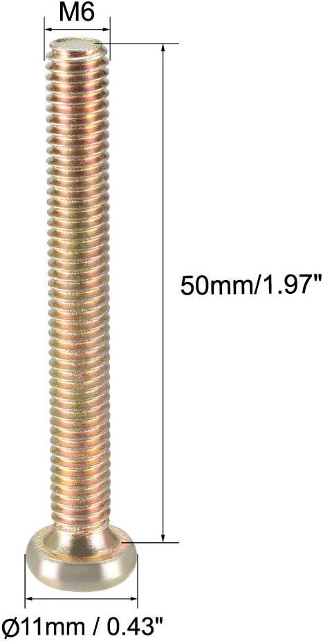 Karbonstahl Sourcing Map M8 M/öbelschraube verzinkt Befestigungsschrauben Innensechskant Maschinenschrauben Gewinde