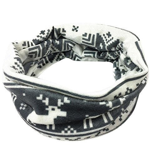 Clearance!! WuyiMC Women's Snowflake Holiday Infinity Loop Scarf 4 Colors -