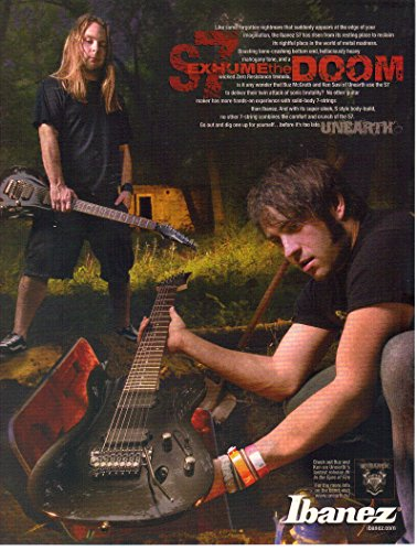 Print ad: 2007 Ibanez S7 Metal Guitar, Buz McGrath, Ken Susi-Unearth