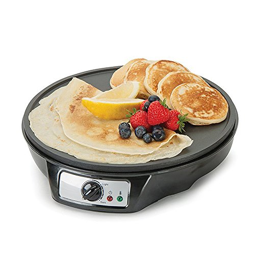 Global Gourmet Pancake Maker & French Crêpe Machine | Non-Stick 12 Inch...