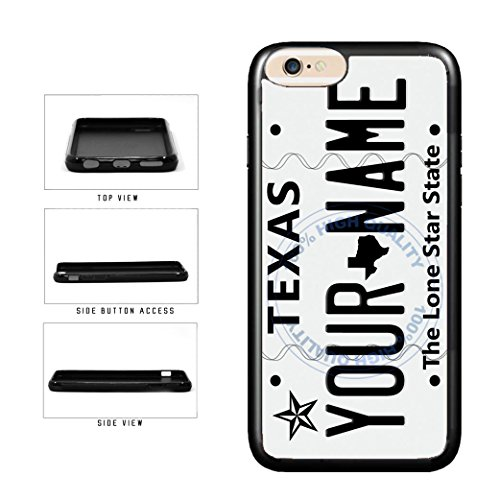 BleuReign(TM) Personalized Custom Name 2016 Texas State License Plate TPU Rubber Silicone Phone Case Back Cover for Apple iPhone 8 Plus and iPhone 7 Plus