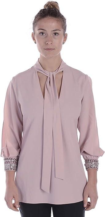 Twin-Set - Camisa Mujer QS7PBD Pink 42: Amazon.es: Ropa y accesorios