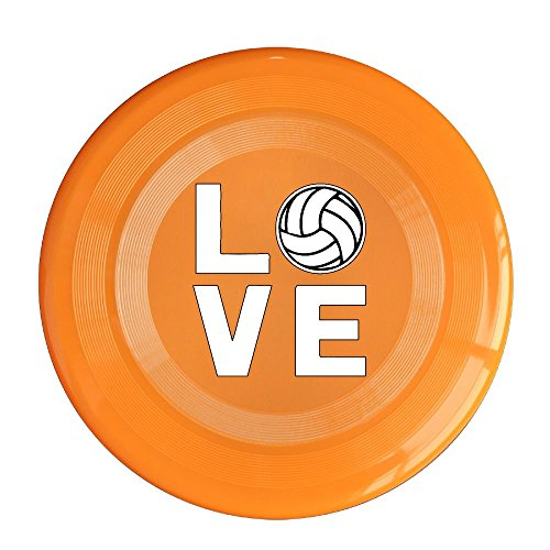 Love Volleyball Funny Customized Printed Dog Frisbee Outdoor Toys For - Beach Candid Volleyball