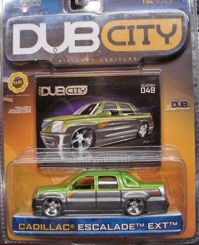 - Jada Dub City Metallic Mean Green & Silver Cadillac Escalade EXT 1:64 Scale Die Cast Car by Dub City