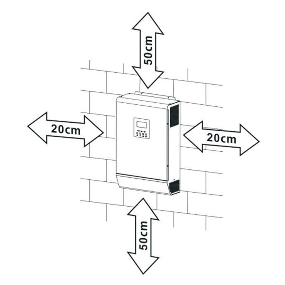 Inverter ibrido 3KVA 2400W 50A 24V ad alta frequenza ibrido puro sinusoidale W-ave inverter incorporato controller solare
