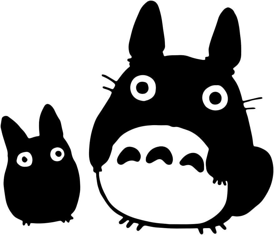 "Bargain Max Decals - Totoro Black Decal Studio Sticker Decal Notebook Car Laptop 5"" (Black)"