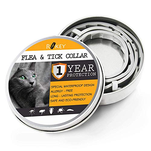 Clear Voice 100 Telephones - ROKEY Flea Collar for Cats - 1 Year Flea and Tick Prevention for Cats - Natural Cat Flea Treatment - Easily Adjustable, Safe and Waterproof Cat Collar