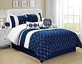 7 Piece King Malibu Navy/White Comforter Set - Best Reviews Guide