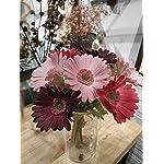 Ahvoler-7-Pcs-Artificial-Gerbera-Flower-Realistic-Fake-Daisy-Flowers-Bridal-Wedding-Bouquet-for-Home-Garden-Wedding-Party-Decorations-WinePink