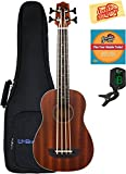 Kala U-Bass-PSGR-FS Passenger Acoustic-Electric U-Bass Ukulele Bundle with Gig Bag, Tuner, Austin Bazaar Instructional DVD, and Polishing Cloth