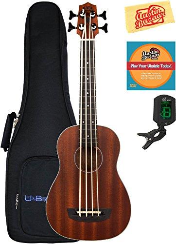 Kala U-Bass-PSGR-FS Passenger Acoustic-Electric U-Bass Ukulele Bundle with Gig Bag, Tuner, Austin Bazaar Instructional DVD, and Polishing Cloth by Kala (Image #4)