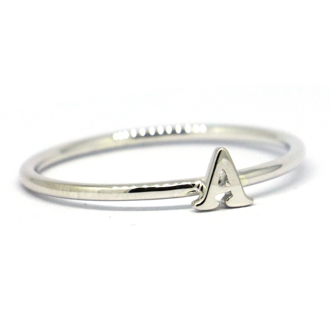lifufinejewels Solid 925 Sterling Silver Captial Letter Initial Ring