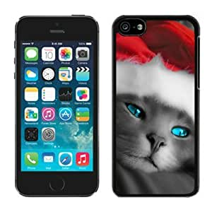 linJUN FENGDiy Design iphone 4/4s TPU Case Christmas Cat Black iphone 4/4s Case 6