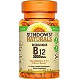 Sundown Naturals Methylcobalamin B12 5000 mcg, 90 Microlozenges