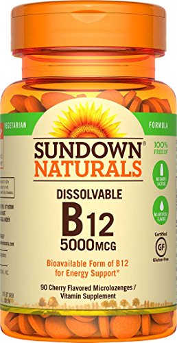 Mcg Sublingual 5000 Tablets (Sundown Naturals Methylcobalamin B12 5000 mcg, 90 Microlozenges)