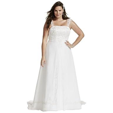A line plus size wedding dress with cap sleeves style 9v9010 at a line plus size wedding dress with cap sleeves style 9v9010 white 14w junglespirit Choice Image