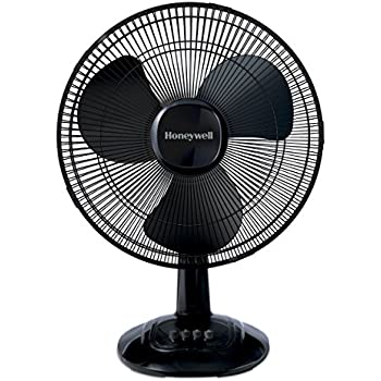 Honeywell Comfort Control Oscillating Table Fan Adjustable Tilt Head With 3 Speeds & Removeable Grill