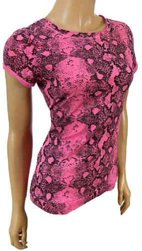Traje de neopreno para mujer Love NewYork Queen diseño de impresión Summer Forever de piel de decorada en la parte superior y New York Queen(Pink)