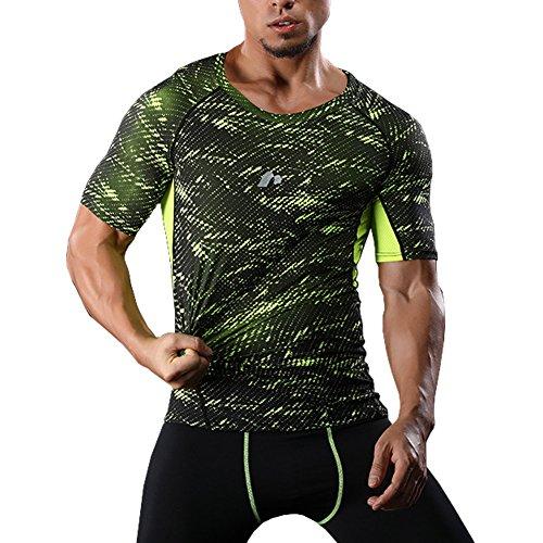 オアシス気をつけて交換エレガンザー コンプレッションウェア 半袖Tシャツ スポーツタイツ アンダーウェア トレーニング 吸汗速乾 S-XL