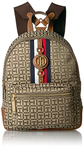 Tommy Hilfiger Women's Backpack Jaden, Tan Dark Chocolate by Tommy Hilfiger
