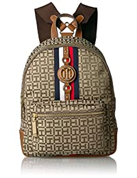 Tommy Hilfiger Women's Backpack Jaden, Tan Dark Chocolate