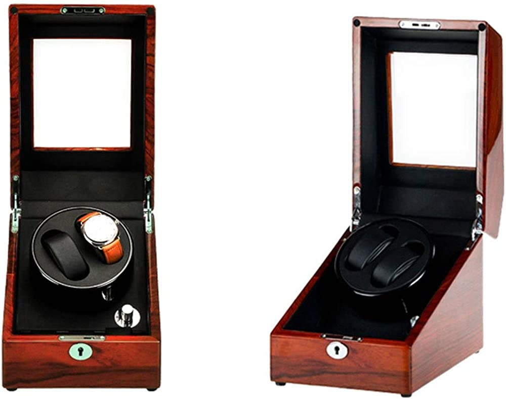 Caja Relojes Automaticos 2 + 3 Estuche de Almacenamiento de Caja de exhibición Winder de Reloj automático: Amazon.es: Relojes