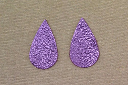 "Leather Earrings Teardrop Large Die Cut 12pk Viva Lilac Metallic /""Vegas/"" DIY"