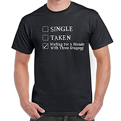 Mens Funny T Shirts-Waiting For Blonde 3 Dragons-Game of Thrones Inspired