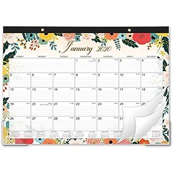 2020 Desk Calendar - Large Desk/Wall Monthly Calendar 2-in-1, 22