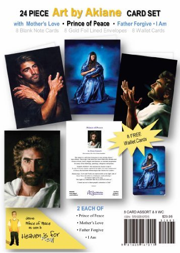 Jesus art by Akiane Kramarik, Note Card Assortment by Art & SoulWorks