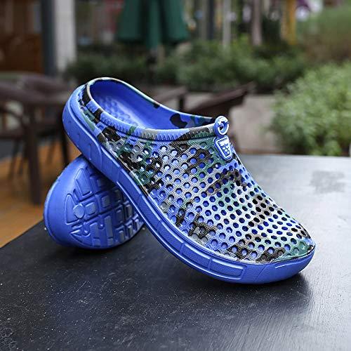 Hombres Beach Aire Azul Sandalias Flat Transpirable Rapido Zapatos Al De Secado Masculinos Libre ALIKEEY Verano Slipper dHCFqw4aC