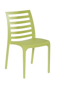 Chaise en résine vert anis Orion: Amazon.fr: Jardin