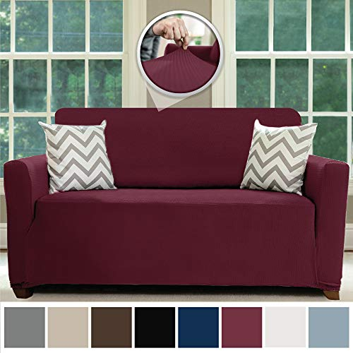 - Sofa Shield Original Fitted 1 Piece Loveseat Slipcover, Soft, Stretch, Seat Width Up to 54