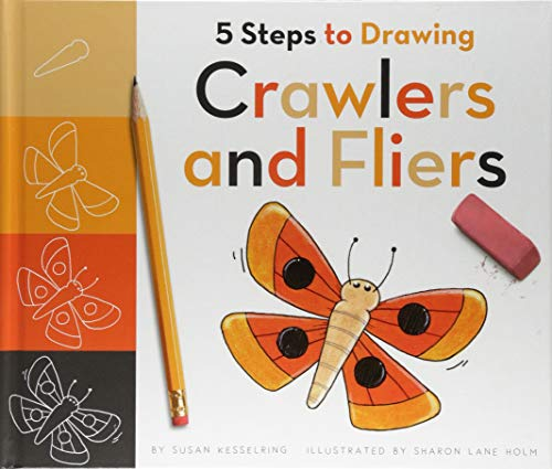 5 Steps to Drawing Crawlers and Fliers (Easy Drawings Of Butterflies Step By Step)