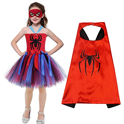 AQTOPS Hero Spider Dress Costumes Spidergirl Costume for Toddler Girls 2t ()