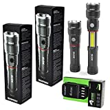 4 Pack Nebo 6434 Slyde King 330 Lumen USB rechargeable LED flashlight/Worklight, rechargeable Li-ion battery with EdisonBright 4 port USB charging station bundle
