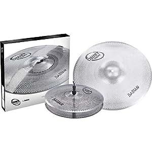 sabian qtpc501 quiet tone practice cymbal set silver 13 18 qtpc501 musical. Black Bedroom Furniture Sets. Home Design Ideas