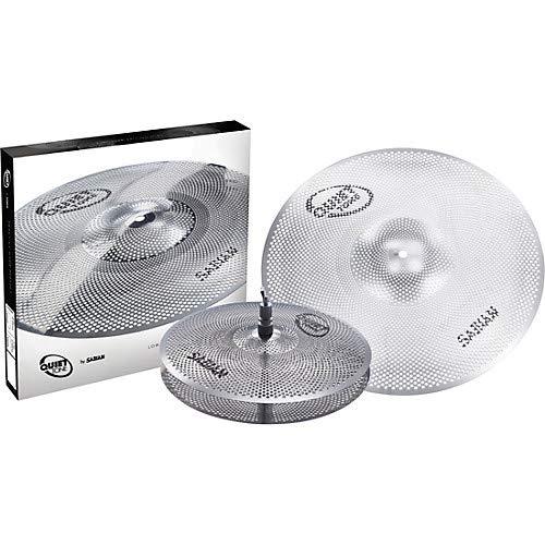 Sabian QTPC501 Quiet Tone Practice Cymbal Set -Silver- 13