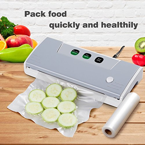 Thaisan7, Professional Food Vacuum Sealer Food Saver Machine Sealing System + Storage Bag,Storage Meal -14''W x 5.9'' D x 2.7'' H by thaisan7