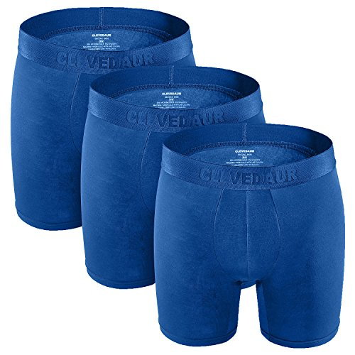 Mens Boxer Briefs 3 Pack Soft Stretch Blue 6