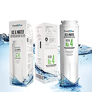 Refrigerator Water Filter Replacement - for Models UKF8001, 4396395, EDR4RXD1 Found In Leading Big Name Brands Of Bottom Freezer and Side-By-Side Door Fridge - By Freshflow Water (1 Pack)