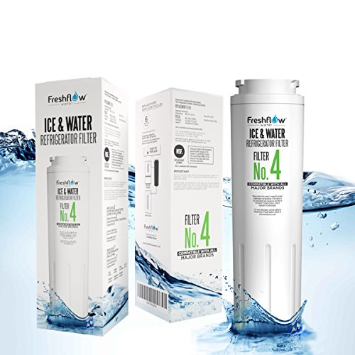 Refrigerator Water Filter Replacement For Models UKF8001, 4396395, EDR4RXD1, UKF8001AXX Found In Leading Big Name Brands Of Bottom Freezer And Side-By-Side Door Fridge – By Freshflow Water (1 Pack)