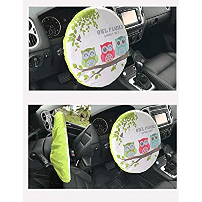 Forala Steering Wheel Cover Universal Fit UV Proof Sun Shade (Rocket) (Owl): Automotive