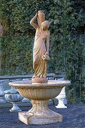 pompidu-living Fuente, Pozo Jardín, Fuente Ornamental, Fountain, Mujer con Jarras - Terracota: Amazon.es: Jardín
