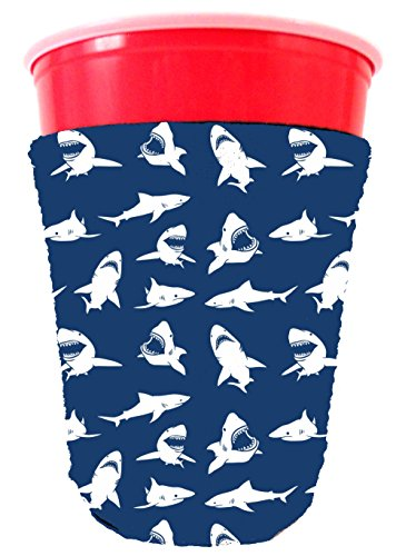 Coolie Junction Shark Pattern Solo Cup Coolie