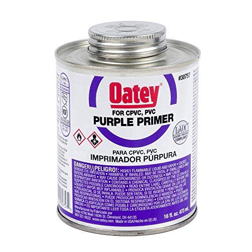 Oatey 30757 NSF Listed Primer, Purple, 16-Ounce