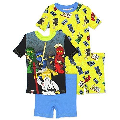 LEGO Ninjago Boy's 4 Piece Cotton Pajamas Set (6, Multi) -