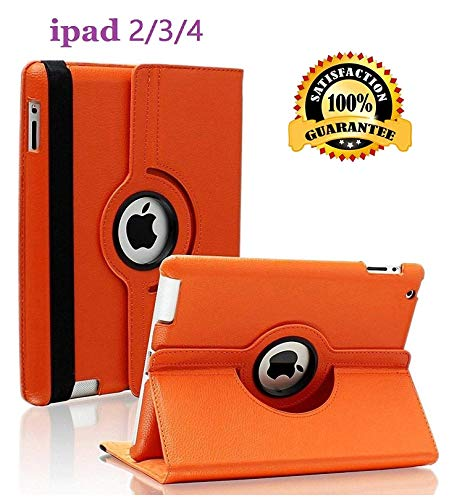 iPad 2/3/4 Case - 360 Degree Rotating Stand Smart Case Protective Cover with...